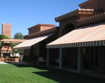 Motorized Retractable Awnings & Retractable Fabric Awnings San Diego County CA - Window u0026 Patio ...