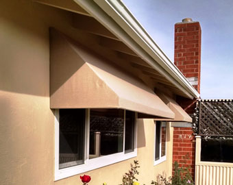Fabric Awning Recovers San Diego County CA