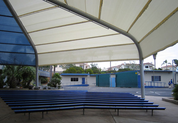 Sunmaster awnings gallery fixed stationary awnings san for Shade cloth san diego